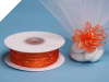 0.31 cm Pull Ribbon-Coral Orange