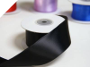 3.81 cm Wired Satin Ribbon - Black