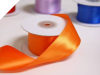 3.81 cm Wired Satin Ribbon - Orange