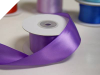 3.81 cm Wired Satin Ribbon - Purple