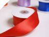 3.81 cm Wired Satin Ribbon - Red