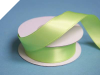 2.22 cm Wired Satin Ribbon - Apple Green