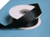 2.22 cm Wired Satin Ribbon - Black