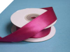 2.22 cm Wired Satin Ribbon - Burgundy