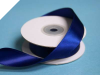 2.22 cm Wired Satin Ribbon - Navy Blue