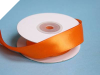2.22 cm Wired Satin Ribbon - Orange