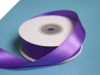 2.22 cm Wired Satin Ribbon - Purple
