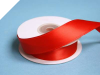 2.22 cm Wired Satin Ribbon - Red