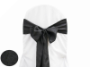 Black Taffeta Crinkle Chair Sash