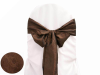 Chocolate Taffeta Crinkle Chair Sash