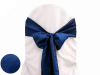 Navy Blue Taffeta Crinkle Chair Sash