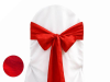 Red Taffeta Crinkle Chair Sash