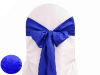 Royal Blue Taffeta Crinkle Chair Sash