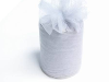 15.24cm x 91.44m Tulle Roll - Silver