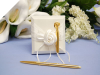Satin Rose Pen Block Set - Ivory/Gold