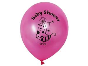 It's a Girl Baby Shower 30.48cm Latex Balloons-25/pk