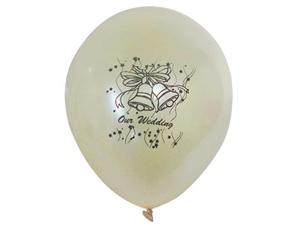 30.48 cm Metallic Latex Balloons-Wedding Bells 25/pk