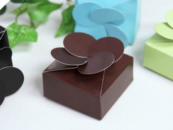 Petal Top Favour Box  Chocolate - 50pc