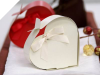 Ivory Heart Favour box- 100pc