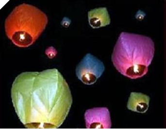 Fabulous Flying Lanterns - White x 5 (Seconds - discounted!)