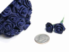 Ribbon Roses-Navy Blue.144/pk