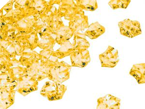Acrylic Ice - Gold - 300pcs