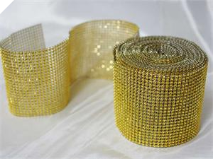 Diamond Jewel Wrap - Gold - per metre