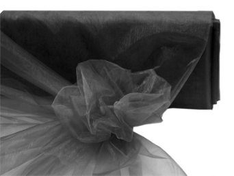 152.40cm x 9.14m Organza Fabric Mini Bolt - Black