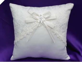Lace Wedding Ring Pillow-Ivory