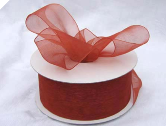 3.81 cm Organza Ribbon-Copper