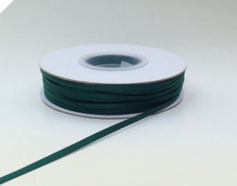 0.31 cm Satin Ribbon-Hunter Green 91metres