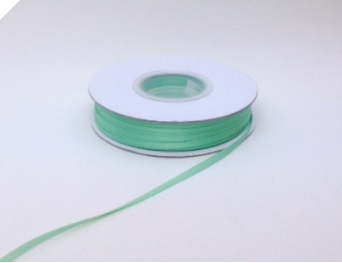 0.31 cm Satin Ribbon-Mint 91metres