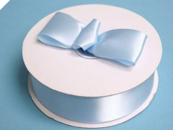 3.81 cm Satin Ribbon-Baby Blue