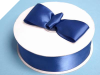 3.81 cm Satin Ribbon-Navy Blue