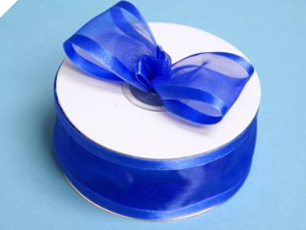 3.81cm Satin Edge Organza-Royal Blue