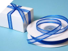 0.95cm Satin Edge Organza - Royal Blue