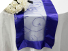 Motif Embroidery Table Runner - Royal Blue