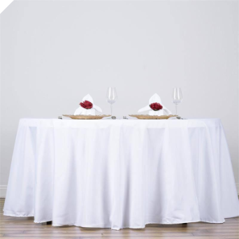 335.28 cm Round Tablecloth - White