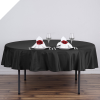 228.60cm  Round Tablecloth - Black