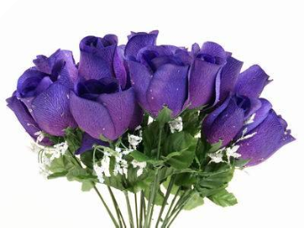 Velvet Rose Buds - Purple 1-bunch