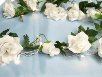Supersized Rose Garland-White