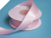 2.22 cm Wired Satin Ribbon - Pink