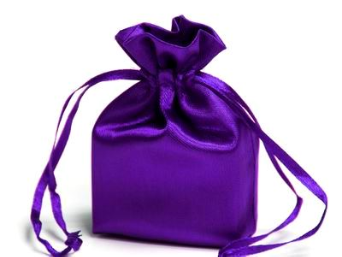 11.43 cm x 13.97 cm Purple Satin Bags-12/pk