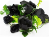 Supersized Rose Garland-Black
