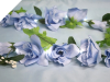 Supersized Rose Garland-Light Blue