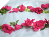 Supersized Rose Garland-Fushia