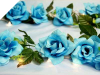 Supersized Rose Garland-Turquoise