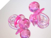 Large Baby Pacifiers-Pink-12/pk