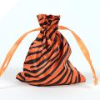 Animal Print Satin Bags 11cm x 14cm - Orange 10/pk