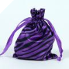 Animal Print Satin Bags 11cm x 14cm - Purple 10/pk